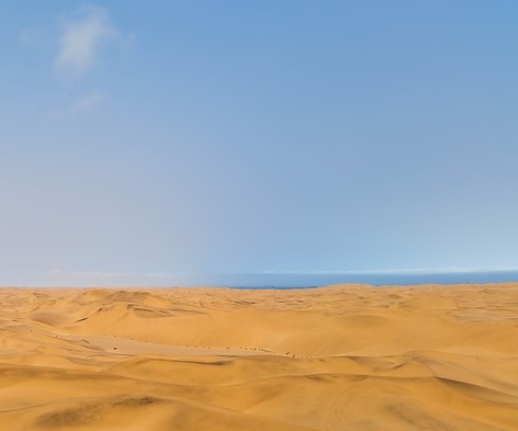 The Skeleton Coast's dunes - Looking towards the atlantic ocean