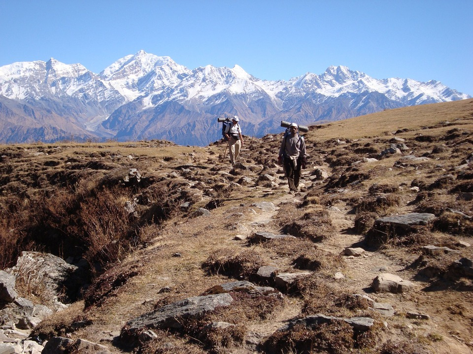 Himalayan backdrop in the Manaslu region.