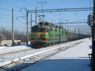 A train in rural Siberia