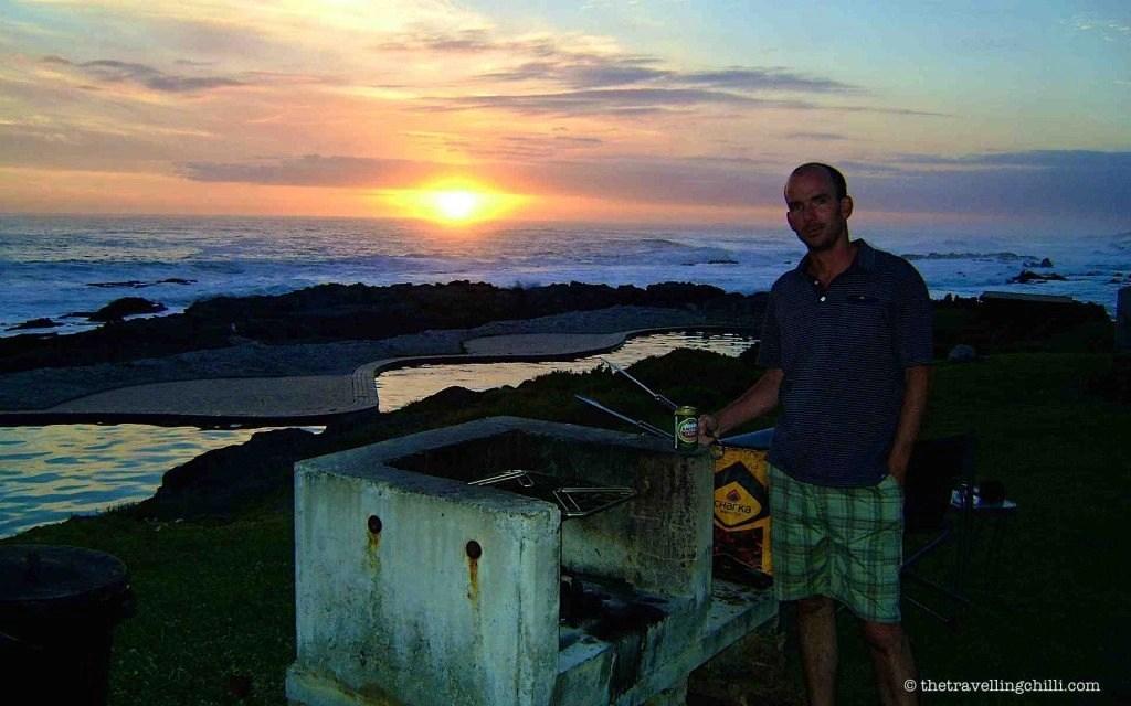 braai tsitsikamma sunset south africa