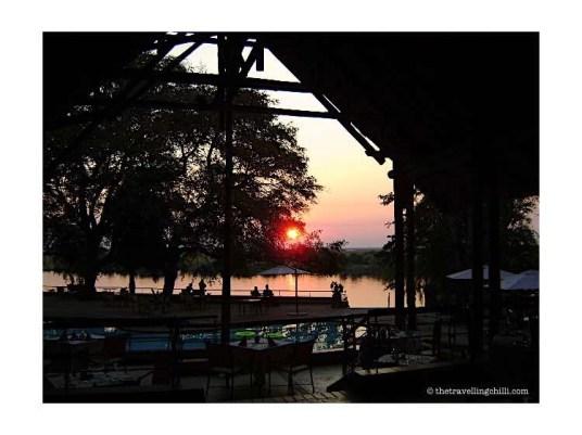 Chobe Safari Lodge Kasane Botswana sunset