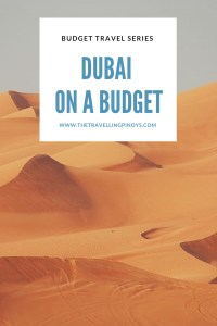 BACKPACKING DUBAI - DUBAI ON A BUDGET