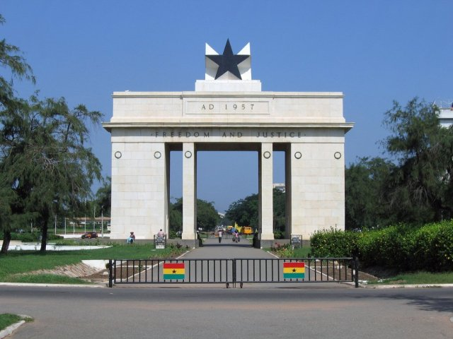 Independence square in Accra, Ghana, West Africa