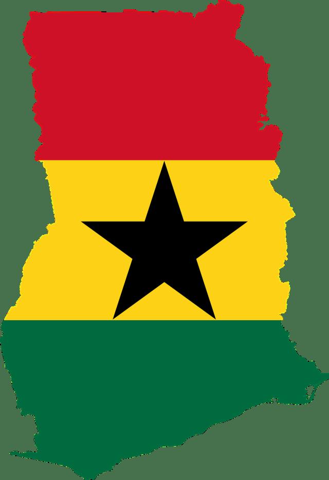 Ghana map and flag colours