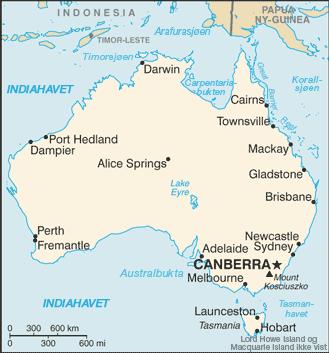 Map of Australia