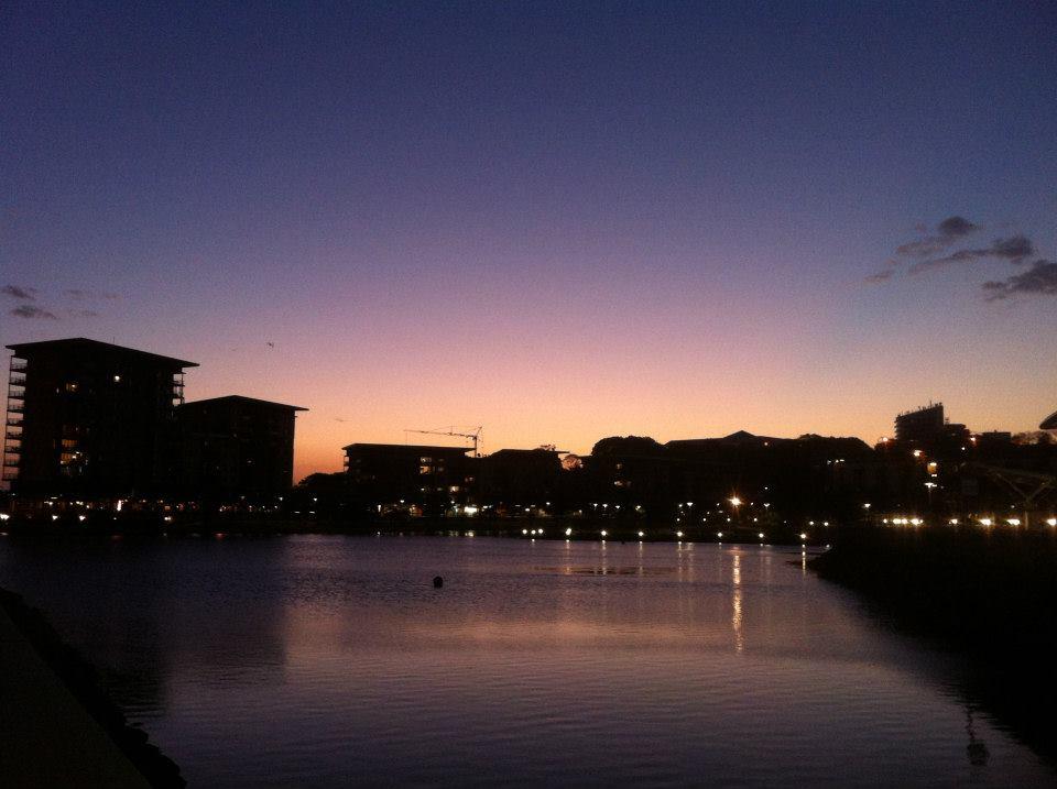Darwin Waterfront at night