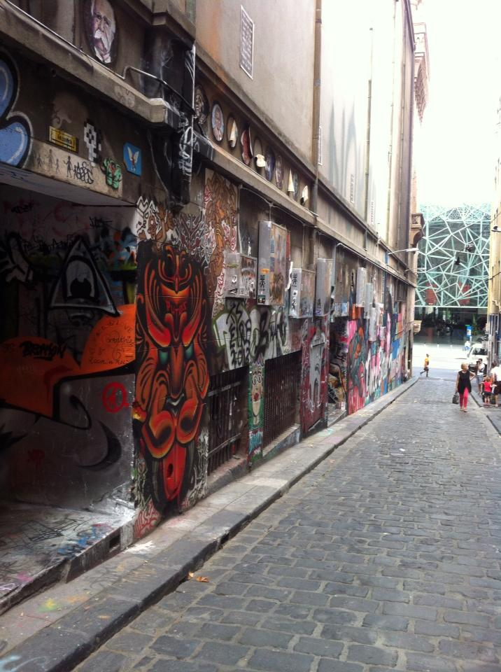 Graffiti in a laneway in Melbourne