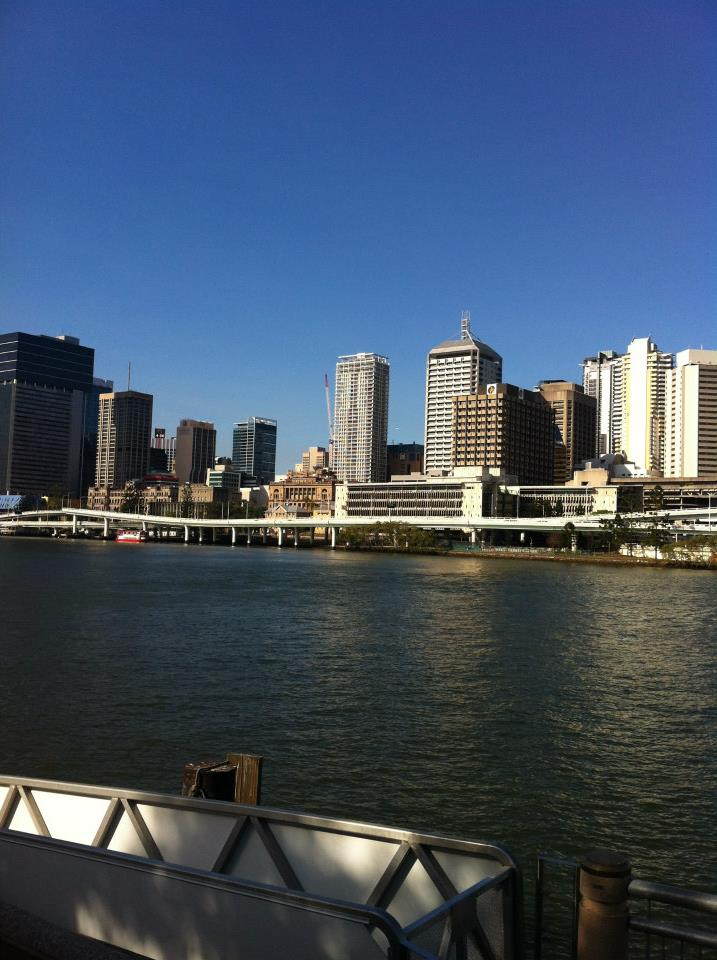 View across the Brisbane River