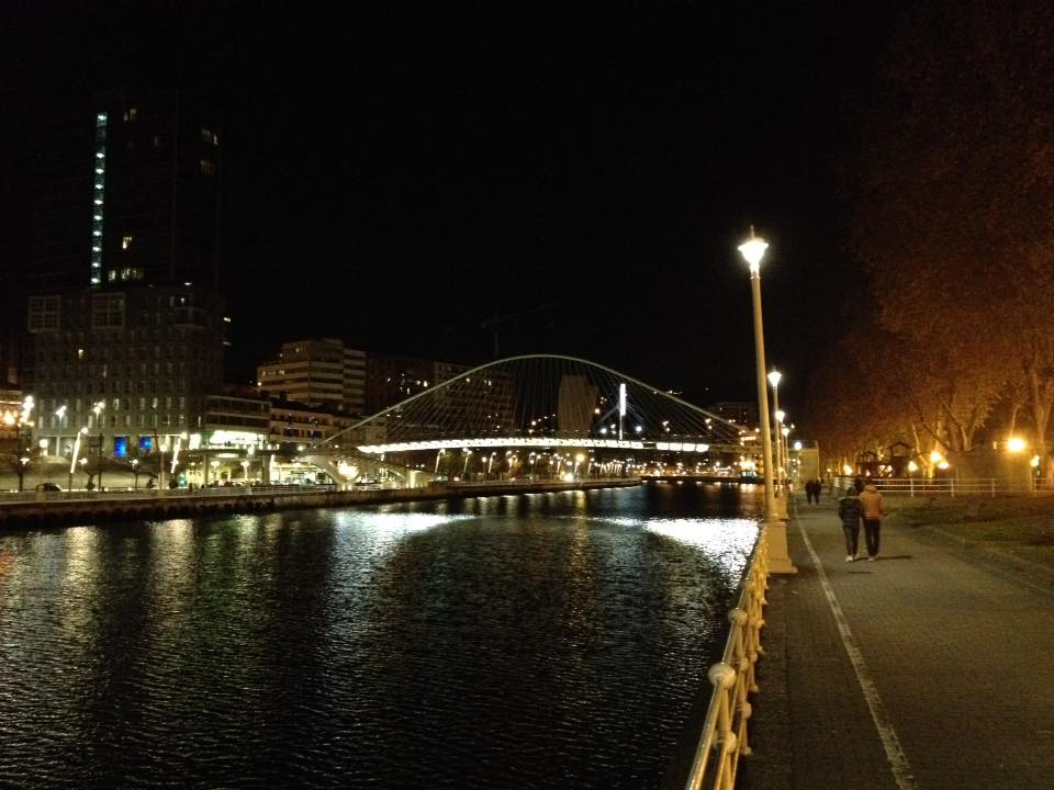 The Zubizurri bridge in Bilbao
