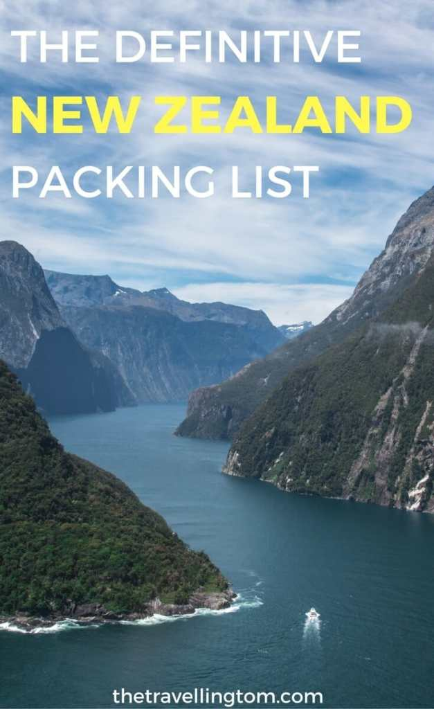 New Zealand packing list pin
