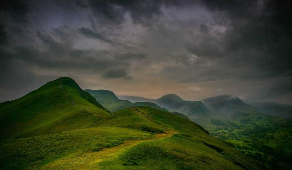 Green hills in the Lake District