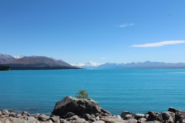 View of the water at Lake Pukaki