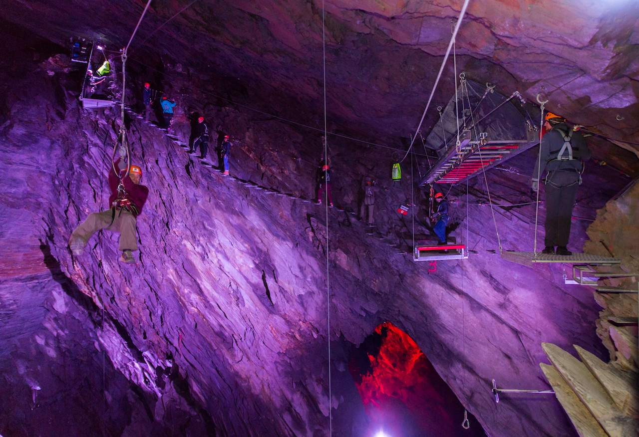 Zip World Caverns  Zip World, Snowdonia National Park, Wales Zip World Caverns