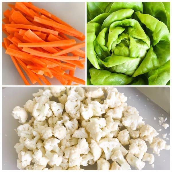 turkey and cauliflower asian lettuce wraps