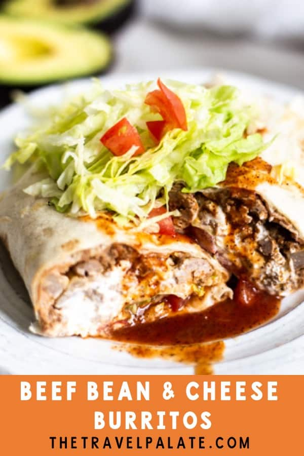 Beef Burritos are a delicious and easy weeknight dinner that satisfies all your Tex-Mex cravings! If you love Ground Beef Tacos, then you're going to enjoy these Beef Burritos too because they use the same taco meat as the filling. #beefburritorecipe #beefburritos #texmexfood #mexicanfood #texmexrecipe #mexicanfoodrecipes