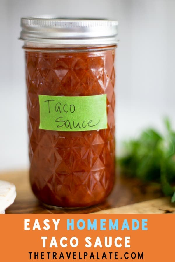 This Taco Sauce Recipe is mild and tangy. If you're a fan of Taco Bell's mild taco sauce, then give this one a try on your favorite Tex Mex recipe! This is great on Ground Beef Tacos and delicious with Beef Burritos. Why not drizzle some on Baked Nachos? You're sure to love this easy to make Taco Sauce!
