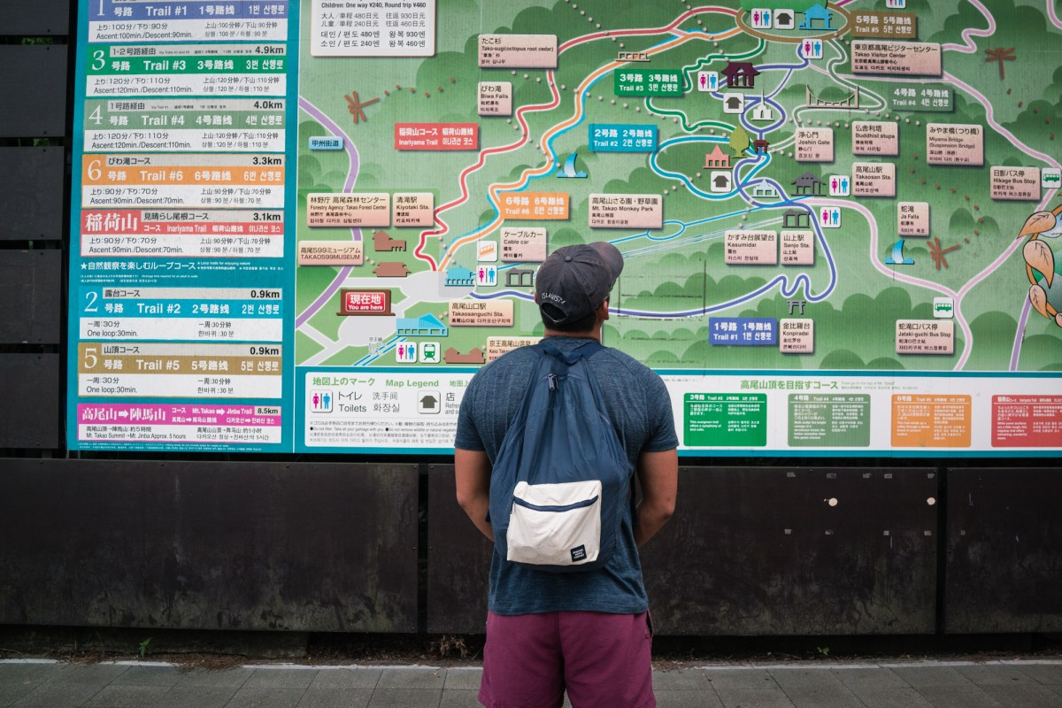 Giant Map of Mt. Takao Trails