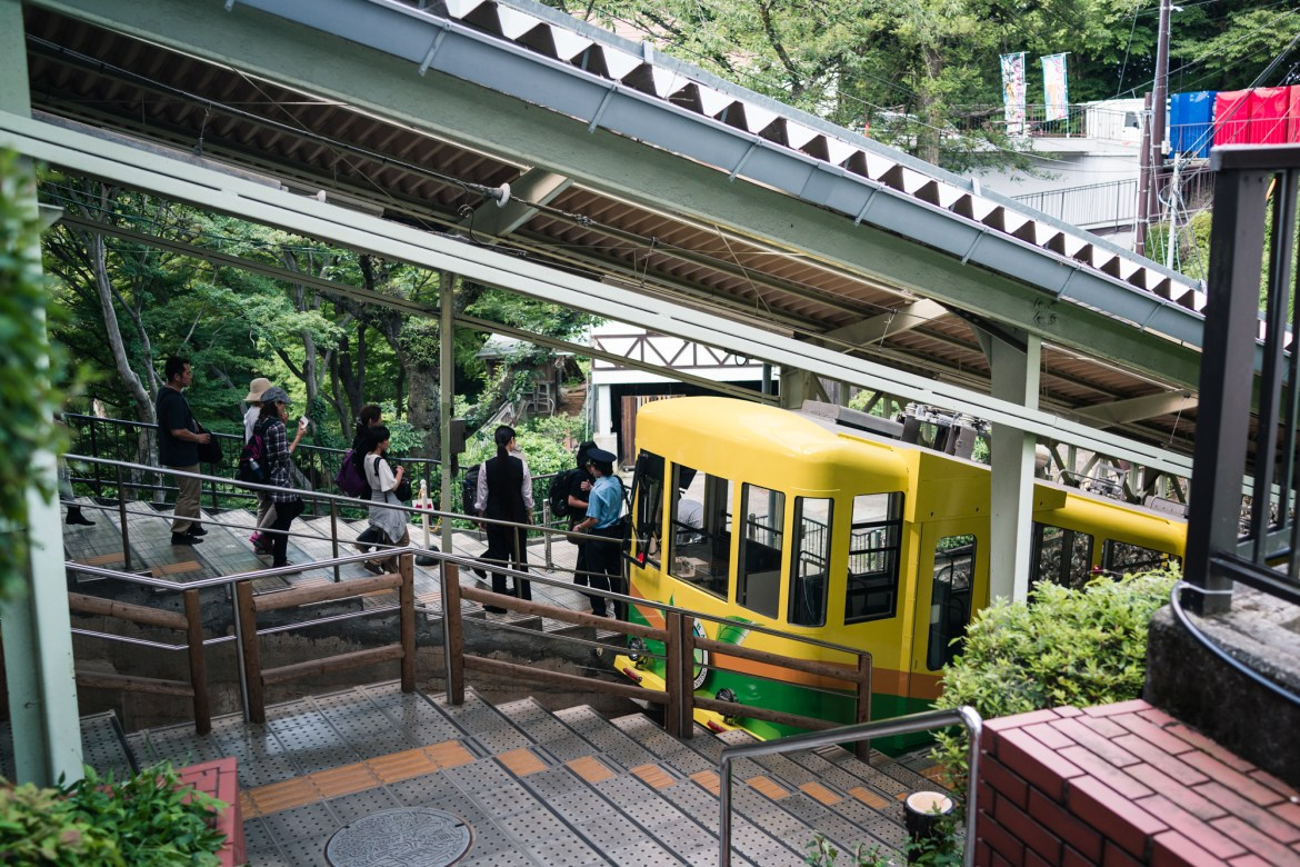 Cable Car at Mt. Takao