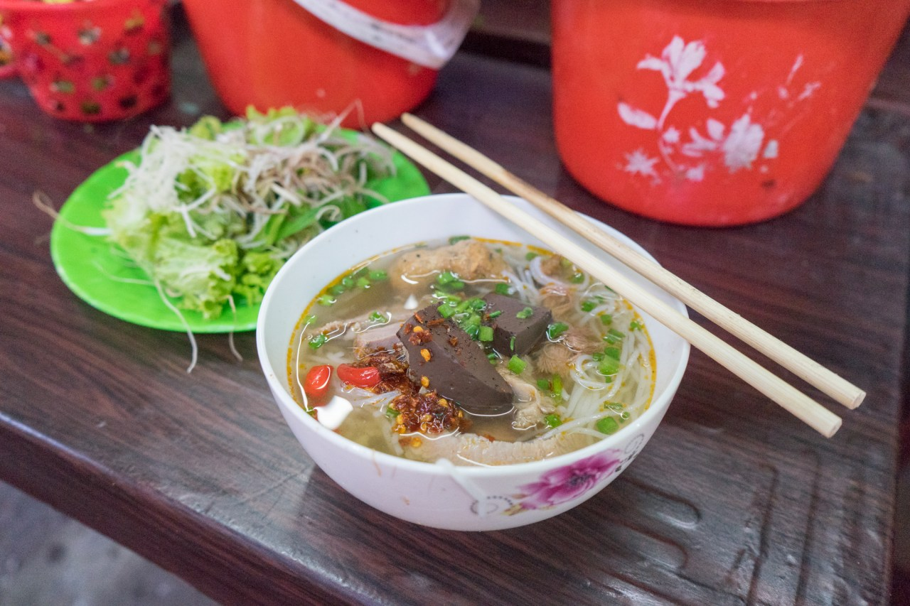 Anthony Bourdain's Bun Bo Hue Stall at Dong Ba Market in Hue Vietnam