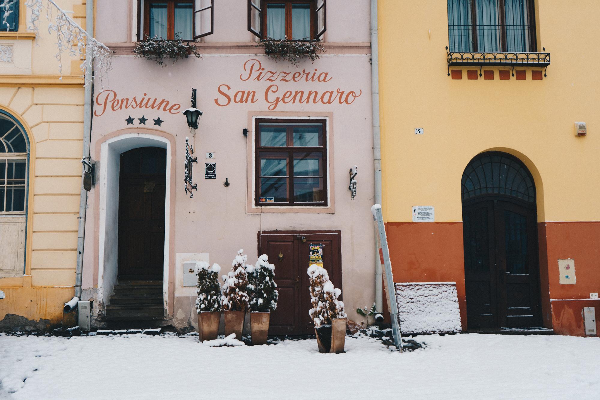 Snow Day in Sighisoara, Romania