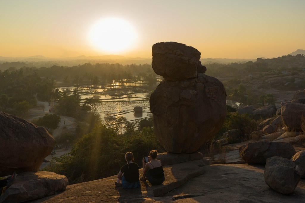 Hampi travel sunset