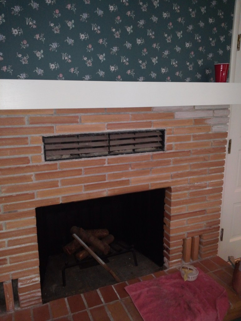 Updating a Brick Fireplace for Less Than $20!