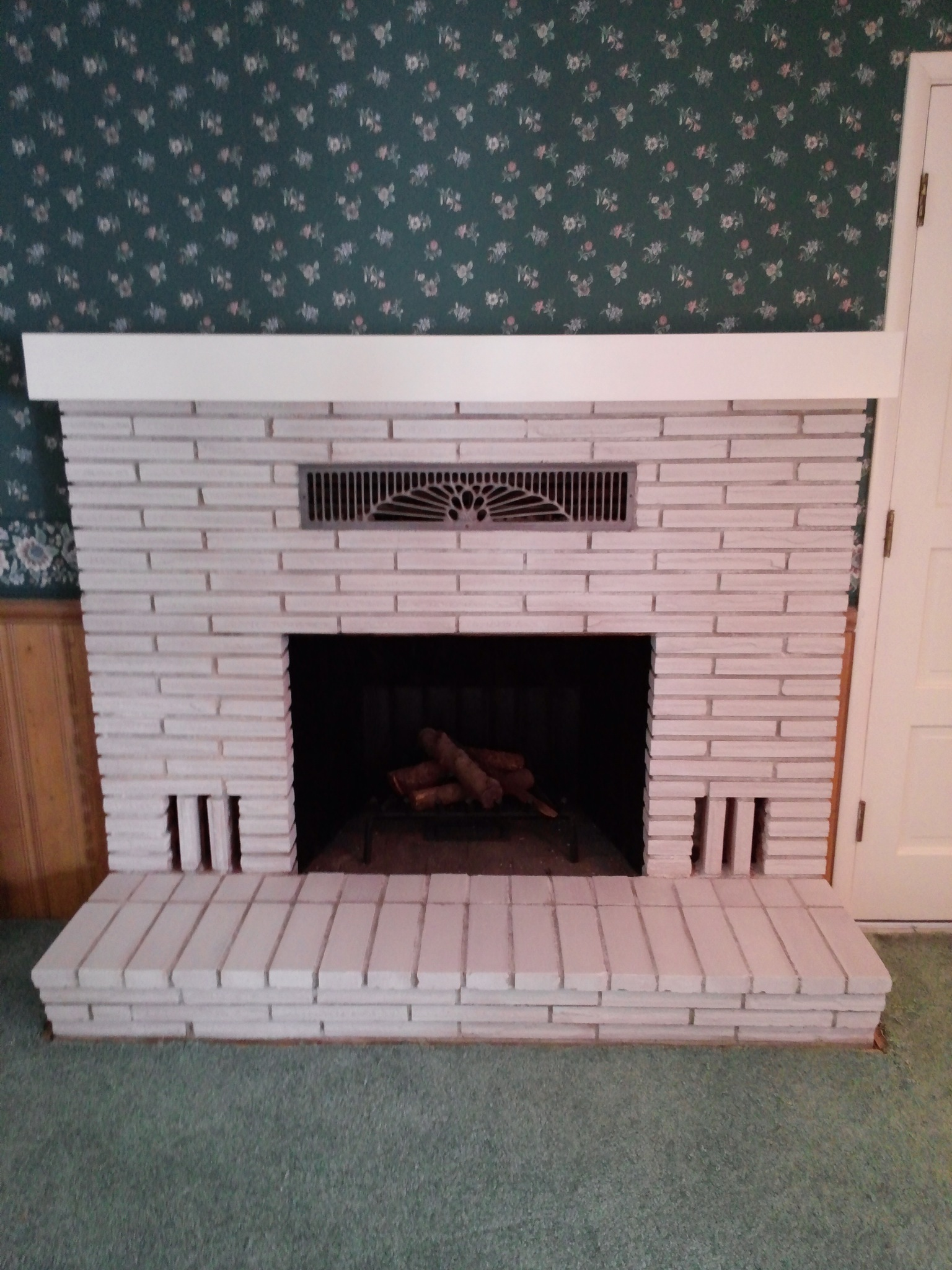updating a brick fireplace for less than 20 the treasured home