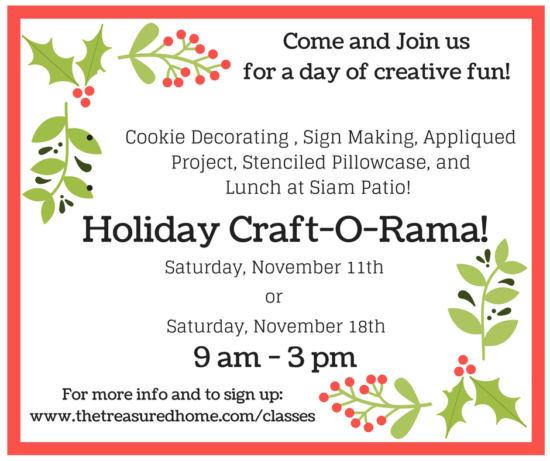 Join Us In November, for Our Craft-O-Rama!
