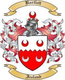 Bartlett Family Crest from Ireland by The Tree Maker