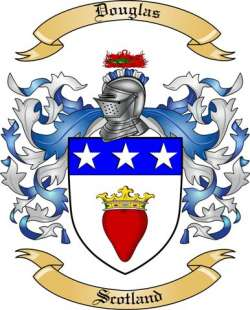 Douglas Family Crest From Scotland By The Tree Maker