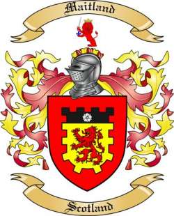 Maitland Family Crest From Scotland By The Tree Maker