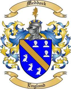 Meddock Family Crest From England By The Tree Maker
