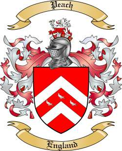 Peach Family Crest from England by The Tree Maker