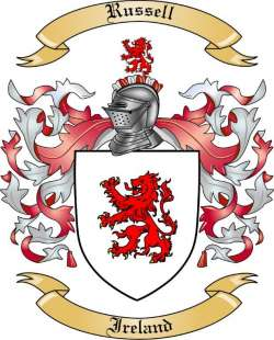 Russell Family Crest from Ireland by The Tree Maker