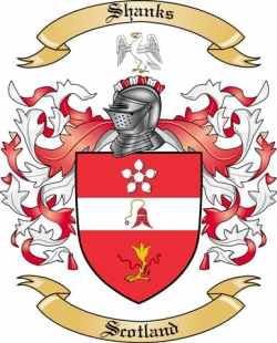 Shanks Family Crest From Scotland By The Tree Maker