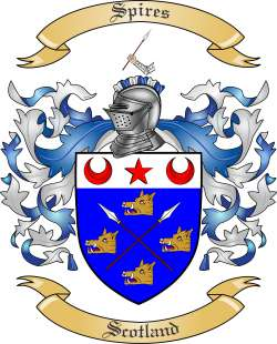 Spires Family Crest From Scotland By The Tree Maker
