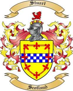Stuart Family Crest from Scotland by The Tree Maker