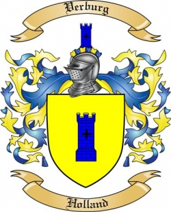 Verburg Family Crest From Holland By The Tree Maker