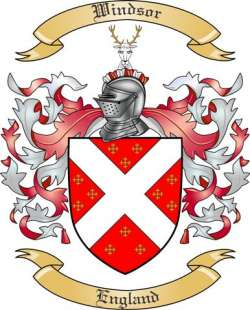 Windsor Family Crest from England by The Tree Maker