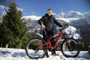 Kilimanjaro is part of Sweeney's attempt at riding a mountain bike as high up each of the tallest mountains on the seven continents as possible then climbing them.