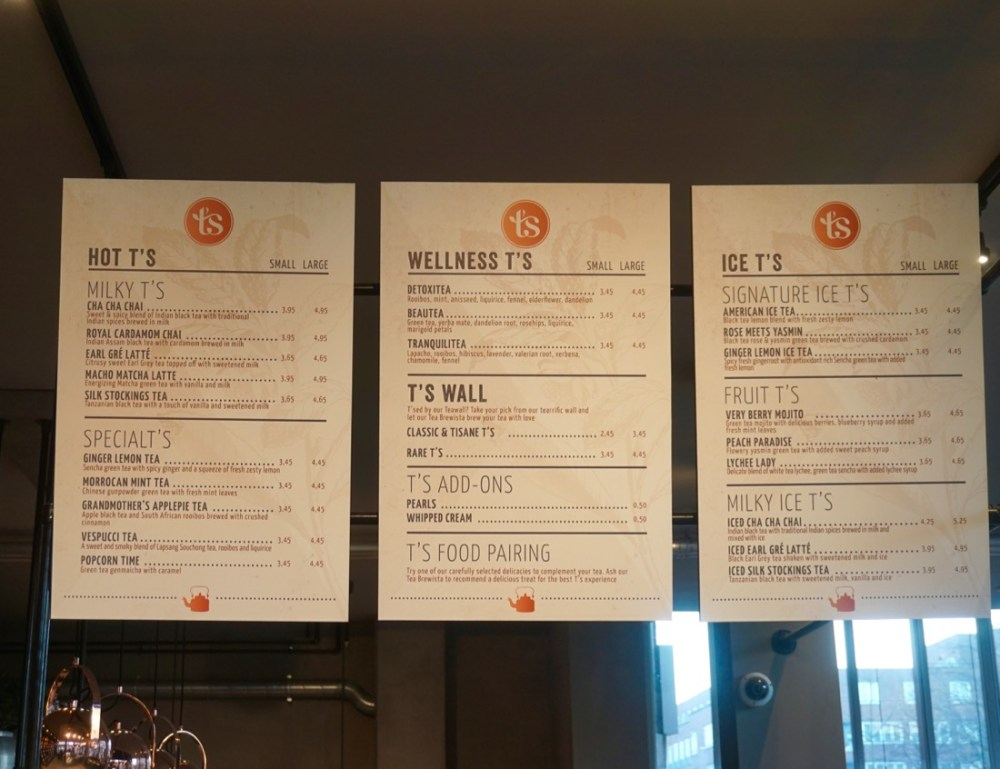 t's menu