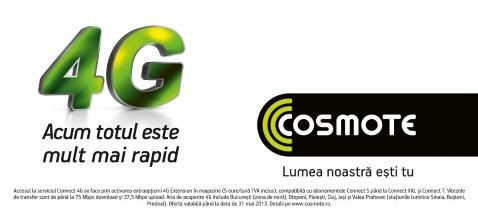 COSMOTE Romania commercially switches to 4G services