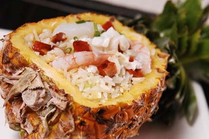 Fried Rice served in a Pineapple