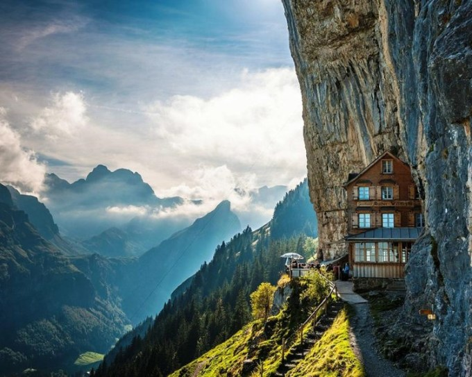 1. Äscher Cliff, Switzerland
