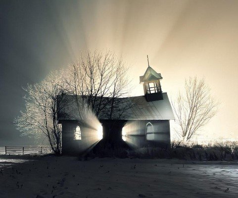 Abandoned Church in the Snow, Canada