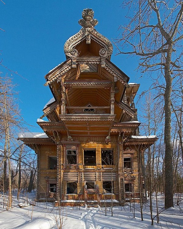 Abandoned Wooden Houses, Russia