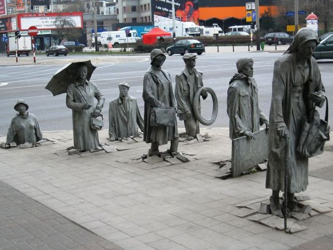 Sculpture Of Anonymous Passer-by, Wroclaw, Poland
