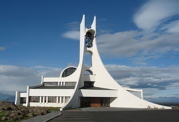 Church in Stykkishólmskirkja (Iceland)