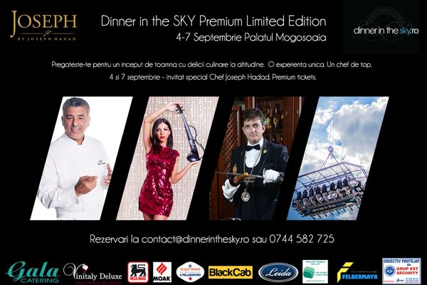 Dinner In The Sky 2014_Event 4-7 Septembrie 2014 Palatul Mogosoaia
