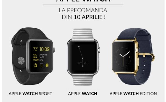 Apple Watch disponibil de la 1.849,90 lei, la precomandă, în oferta QuickMobile